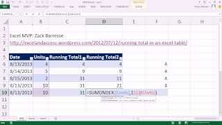 Excel Magic Trick 1041: Expandable Range In An Excel Table For Running Total (zack Barresse's Trick)