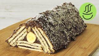 Piramit Pasta Tarifi - Mozaik Pasta - Muzlu Çikolalatalı Pudingli Bisküvili Past