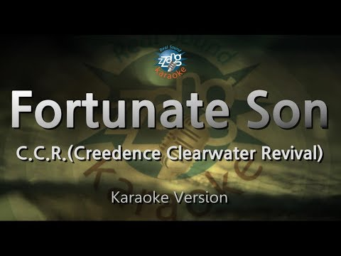 C.C.R.(Creedence Clearwater Revival)-Fortunate Son (Karaoke Version) [ZZang KARAOKE]