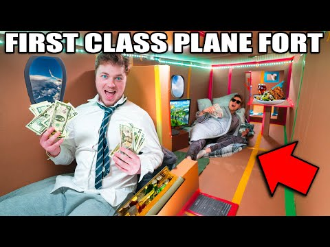 24 Hour BOX FORT AIRPLANE First Class Billionaire