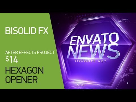 hexagon opener ▻ [ after effects templates ] - youtube, Presentation templates