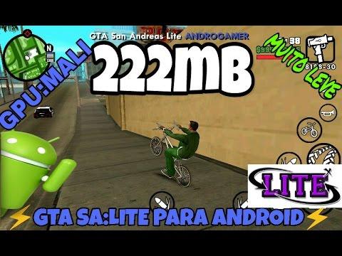 🔲👑Baixar GTA SA:LITE V5 (222mb) Android GPU mali compactado by ANDRO  GAMER Apk+data🔲