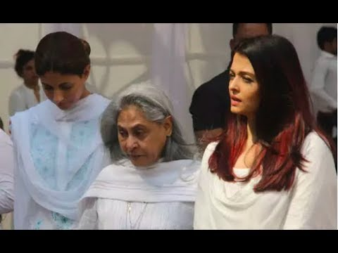 LIVE: Aishwarya Rai Bachchan & Jaya Bachchan At Sridevi Funeral