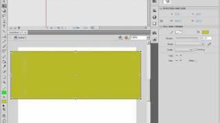 Масштабирование объекта в Adobe Flash CS4 (19/46)
