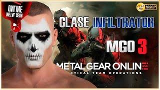 MGO 3 - Metal Gear Online 3 Gameplay Español | Clase Infiltrator Sigilo | Bounty Hunter Gray Rampart