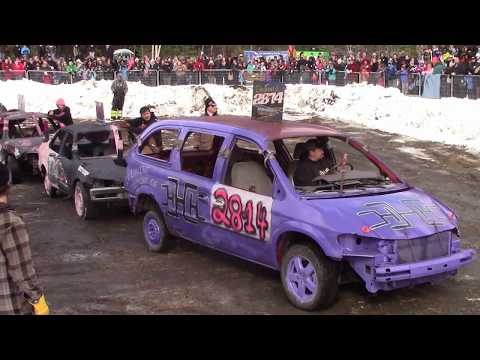 """Gravenhurst demoltion derby 2018 powerwheels, best looking car and a tribute to Hugn""""Hitman""""Hunter."""