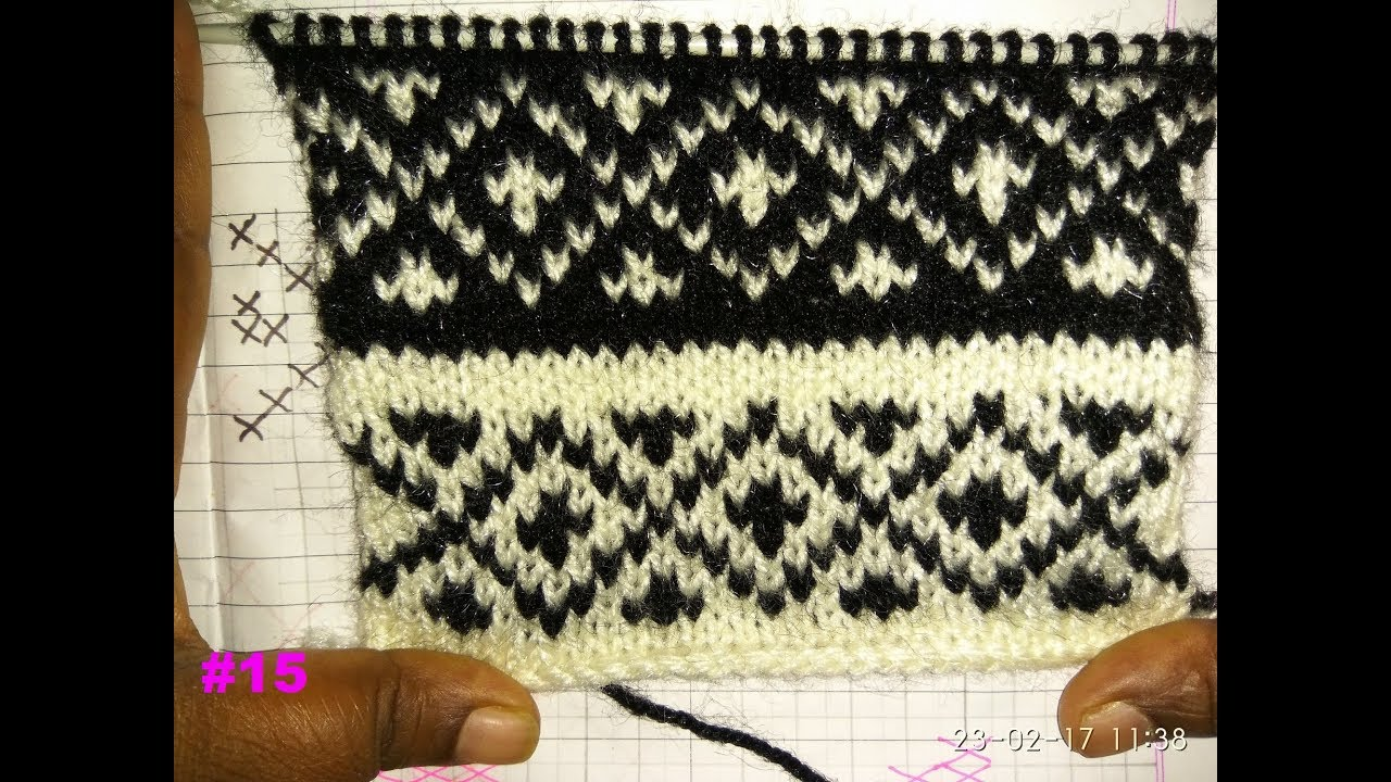 Easy Two Color Graph Knitting Pattern| Hindi - YouTube