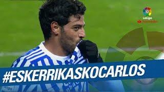 Carlos Vela marca su último gol con la Real Sociedad