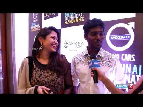 Director Atlee with his wife priya in chennai fashion week 2015 | Super Housefull | News7 Tamil