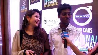 director atlee with his wife priya in chennai fashion week 2015 super housefull news7 tamil