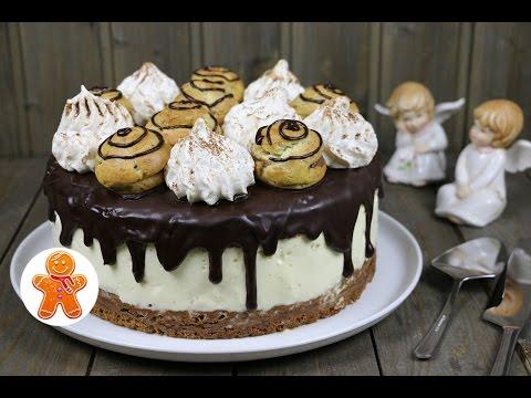 Торт с профитролями Шоколадные облака