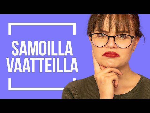 SAMAT VAATTEET 4 PÄIVÄÄ -HAASTE | Emma ja Milla testaa