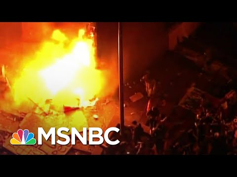 Minneapolis Police Station On Fire Amid Protest Of George Floyd's Killing | The 11th Hour | MSNBC
