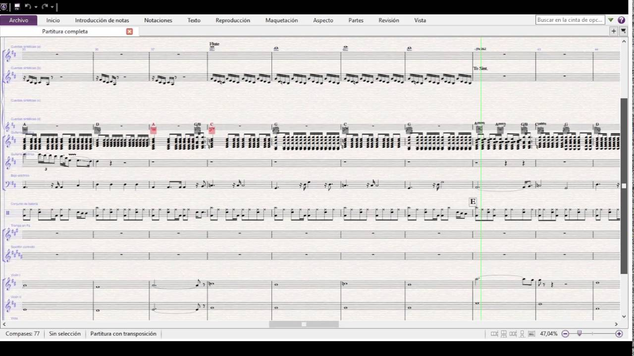 Pink Floyd Comfortably Numb Full Band and Strings Arrangment (With Sheets)