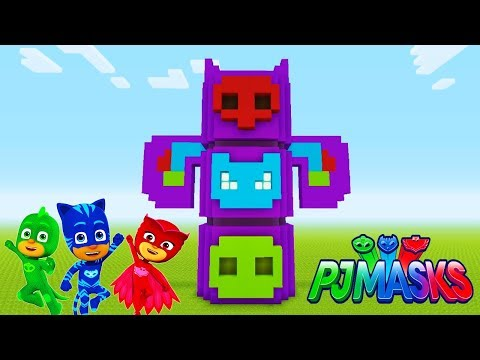 "Minecraft Tutorial: How To Make The PJ Masks Headquarters ""PJ Masks"""