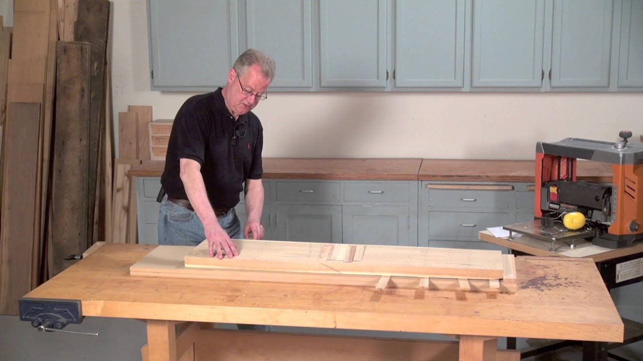 Joint With A Thickness Planer Youtube