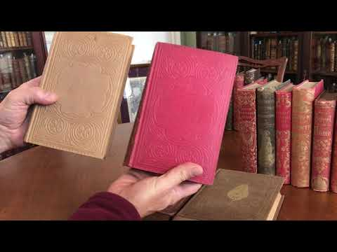 Collection of 10 antique books- publishers gilt cloth bindings of mid-19th century