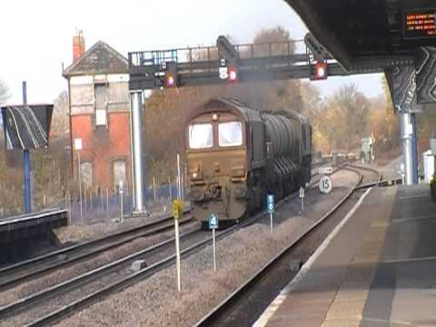 66019 & 66001 9-Tone On Chiltern RHTT @ P. Risborough 14/11/2012