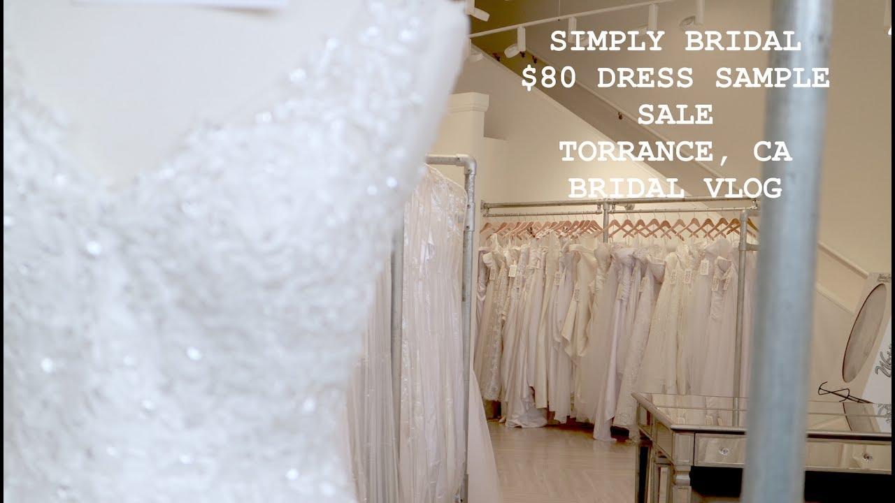 Simply Bridal $80 Wedding Dress Sample Sale 2017- Bridal Vlog - YouTube