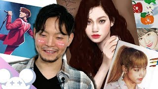Koreans React To Fan Art From Overseas K-POP Fans