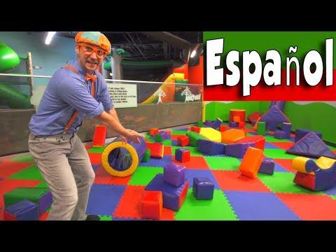 Blippi Espa帽ol Jugando en el Patio de Juegos | Aprende Sobre Colores y M煤sculos para Ni帽os