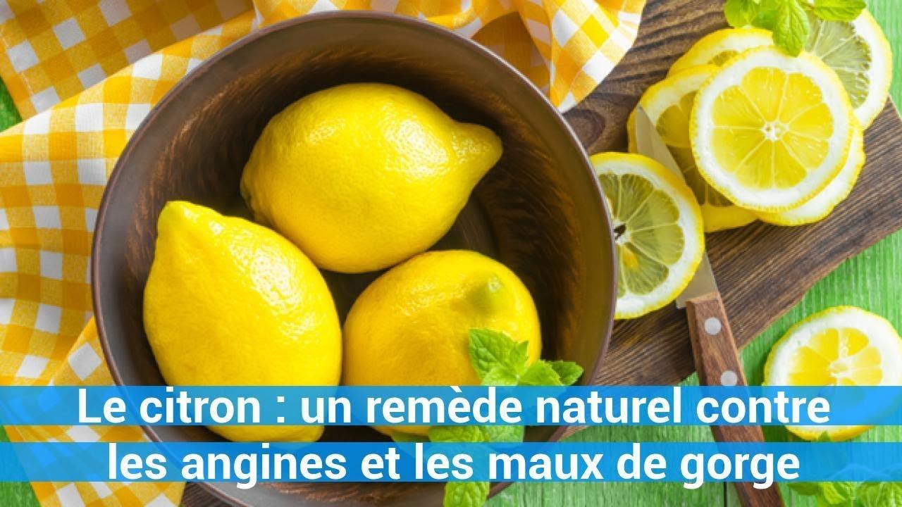remede naturel le citron un rem de naturel contre les angines et les maux de gorge youtube. Black Bedroom Furniture Sets. Home Design Ideas