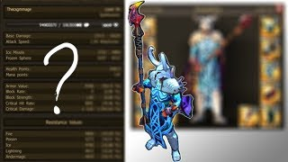 Drakensang Online: My Mage STATS (Q7 Tier 5 Set + 295% Damage On Weapon)