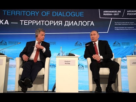 Putin Melts Arctic Forum Moderator: 'How Can You Even Talk About Human Rights?'