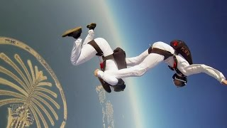 Aleksander and Mikhael skydive over Dubai in a mesmerizing routine ...