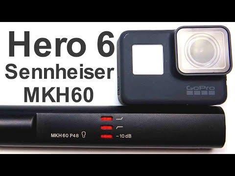 GoPro Hero 6 Black Recording Dialogue Audio With A Sennheiser MKH60 Professional Shotgun Microphone
