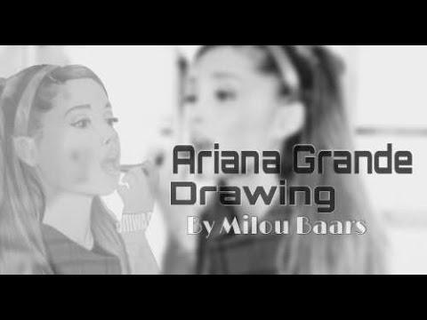 drawing of ariana grande - seventeen magazine covershoot 2014 - by: Milou Baars