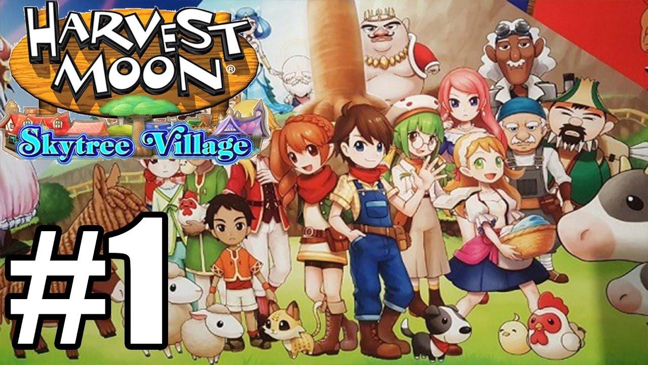 Harvest Moon Skytree Village - Gameplay Walkthrough Part 1 - First 30  Minutes [ 3DS ]