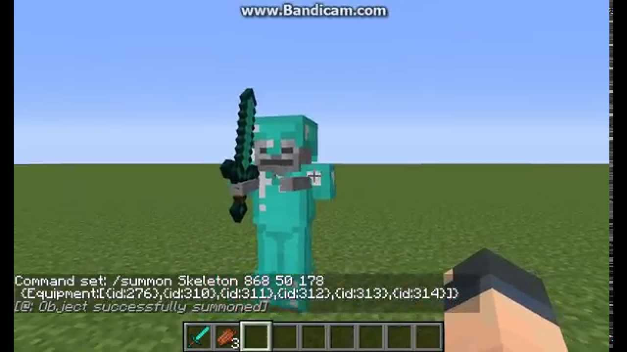 Summon how to minecraft zombie wearing armor video