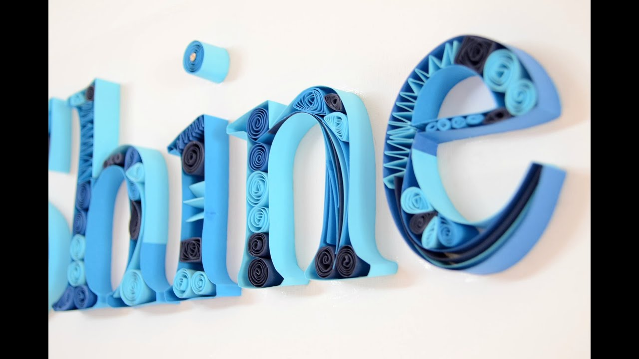 Papercraft DIY Quilling Designs on Canvas - Quilling Letters