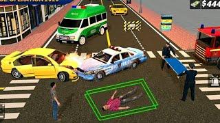 Police Ambulance Rescue Driving : 911 Emergency Ambulance Car Game