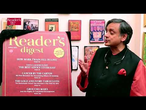 Shashi Tharoor Remembers a Childhood with Reader's Digest