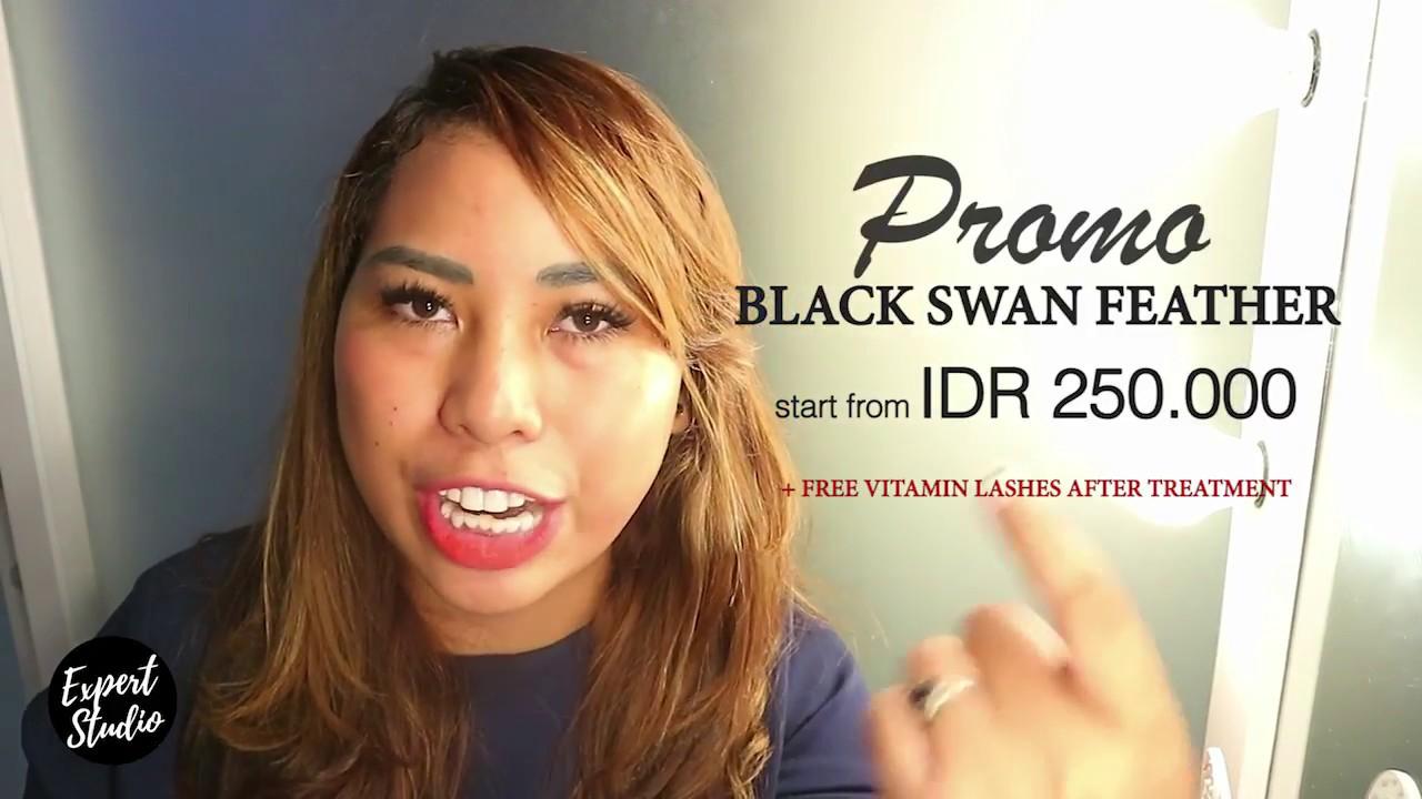 Eyelash Expert Promo Premium Eyelash Extension Black Swan Feather