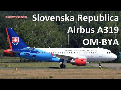 NEW: Slovak Government Airbus A319(CJ) OM-BYA landing in Berlin