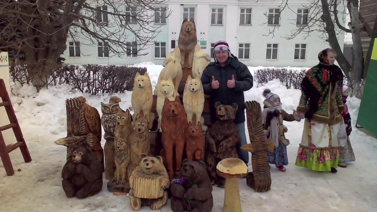 Подготовка к ЯРМАРКЕ ! Скульптура из дерева от деревенского самородка !
