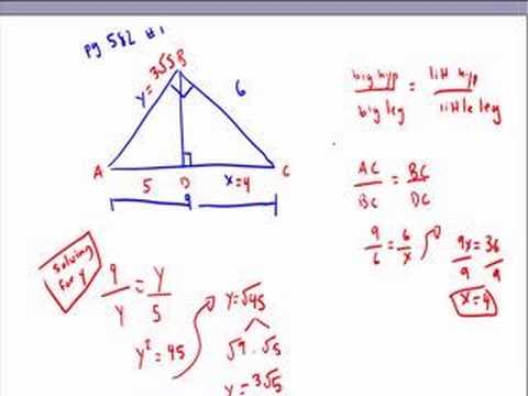 Geometric Mean And Pythagorean Theorem  Youtube
