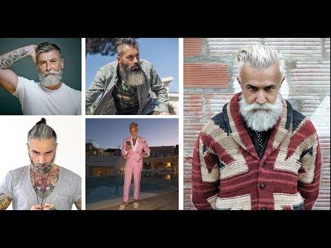 GREY Beards GREY Hair Quiffs Tattoos & Fashion 1of 2 Pangels Best mix Blues