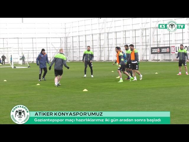 Takımımız Gaziantepspor maçı hazırlıklarına iki gün aradan sonra başladı