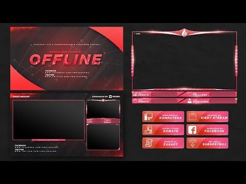 FREE TWITCH STREAM OVERLAY TEMPLATE 2018 #1