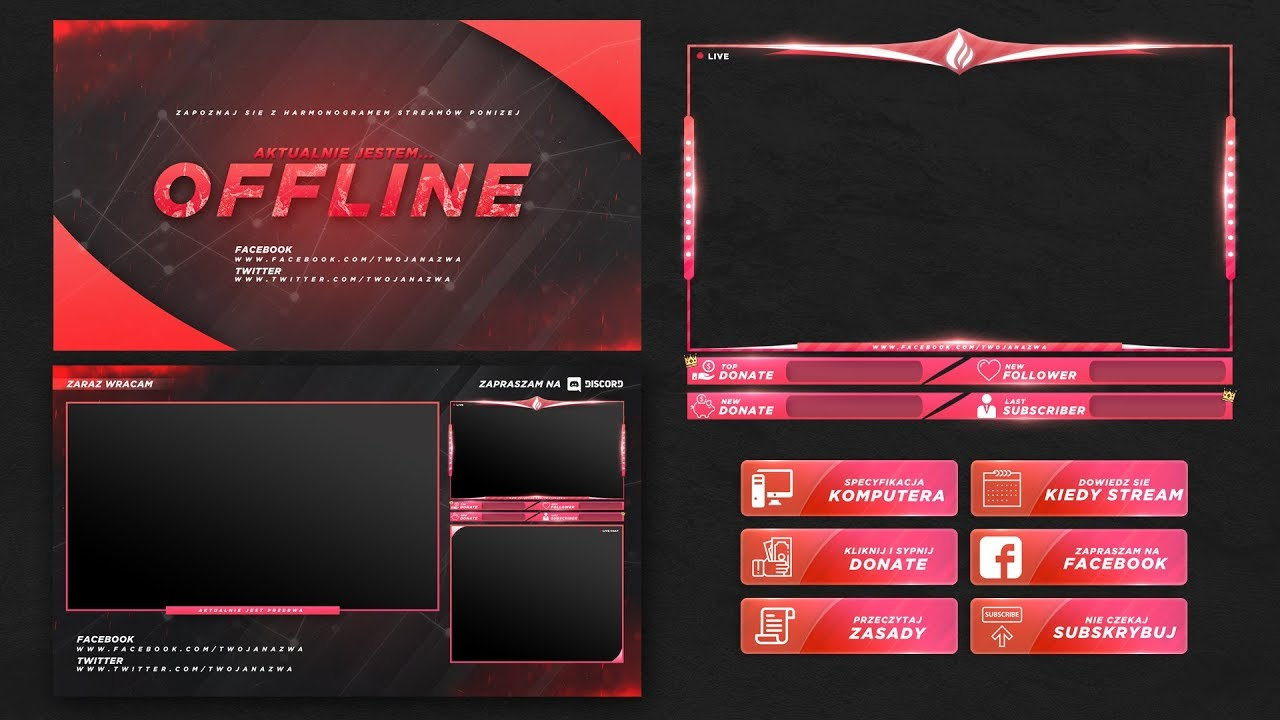 Free Twitch Stream Overlay Template 2018 1