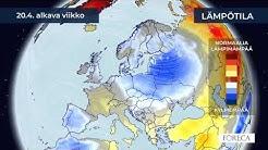 Kuukausiennuste lämpötiloista 14.4.2020