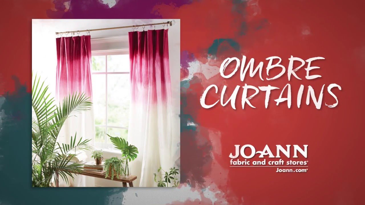 How To Tie Dye Ombre Curtains - YouTube for Ombre Curtains Pink  66plt
