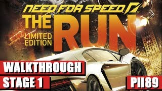 Need For Speed The Run - Limited Edition Gameplay Walkthrough - Stage 1 - The Race Begins - PC HD