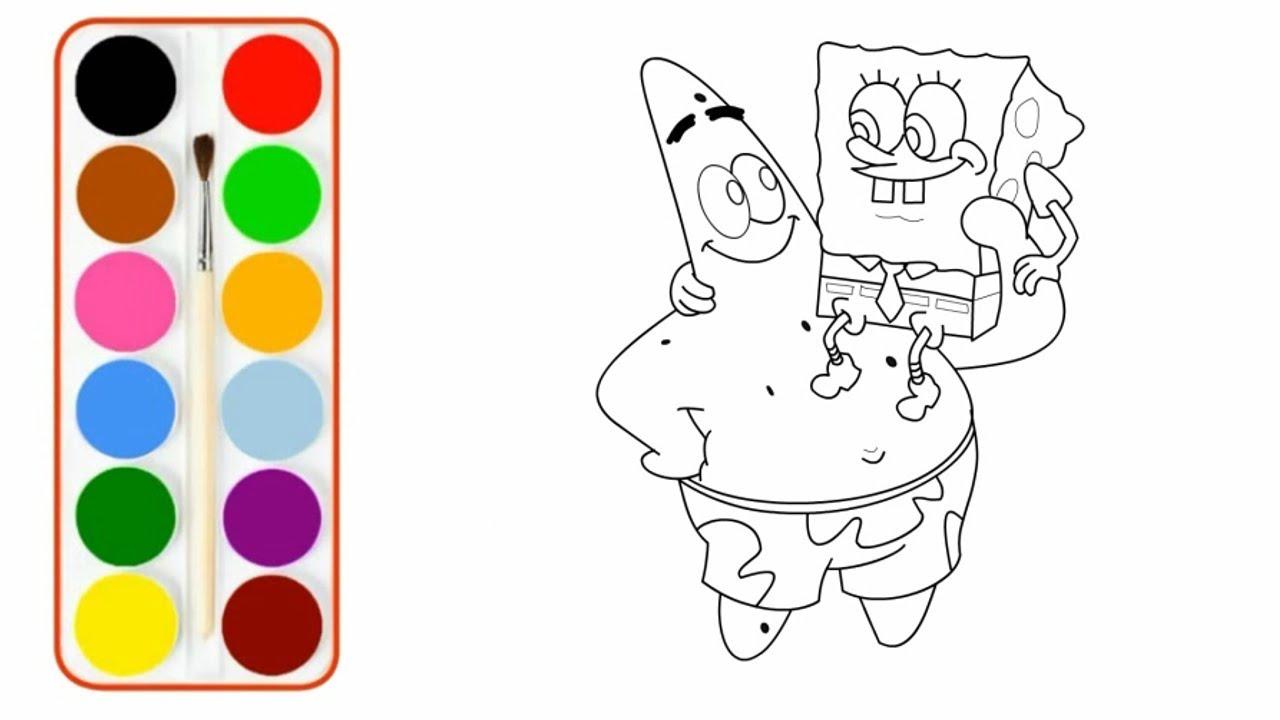 Menggambar Dan Mewarnai Kartun Spongebob Dan Patrick Untuk Anak