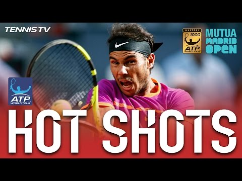 Hot Shot: Nadal Crunches Backhand In Madrid 2017 Final