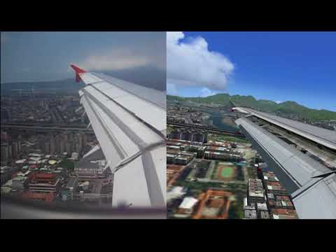 Real World vs FSX  Taipei City
